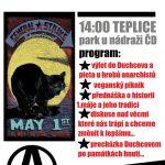 Tradiční severočeský anarchistický 1.MÁJ 2017 - Teplice